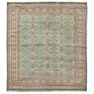 Herat Oriental Pakistani Hand-knotted Bokhara Wool Rug (6'8 x 7'6)