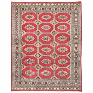 Herat Oriental Pakistani Hand-knotted Bokhara Wool Rug (4'8 x 6')