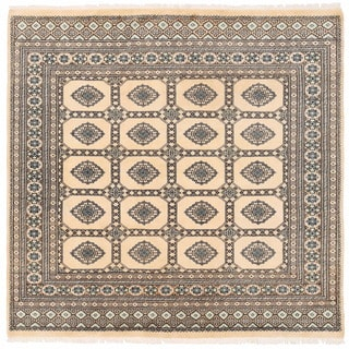 Herat Oriental Pakistani Hand-knotted Bokhara Wool Rug (6'7 x 6'8)