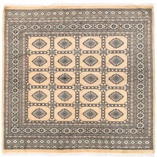 Herat Oriental Pakistani Hand-knotted Bokhara Wool Rug (6'6 x 6'7)