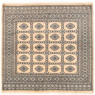 Handmade Herat Oriental Pakistani Bokhara Wool Rug (Pakistan) - 6'6 x 6'7