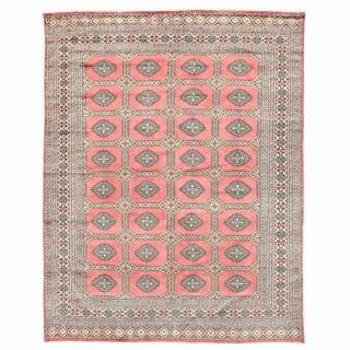 Herat Oriental Pakistani Hand-knotted Bokhara Wool Rug (6'7 x 8'5)