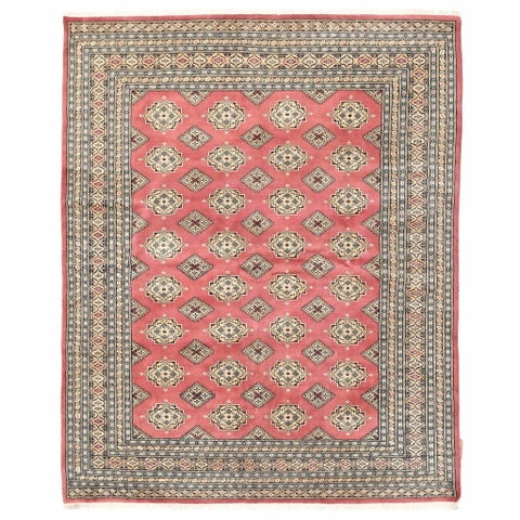 Handmade Herat Oriental Pakistani Bokhara Wool Rug - 6'5 x 7'11 (Pakistan)