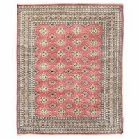 Herat Oriental Pakistani Hand-knotted Bokhara Wool Rug - 6'5 x 7'11
