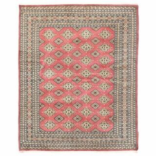Herat Oriental Pakistani Hand-knotted Bokhara Wool Rug (6'5 x 7'11)