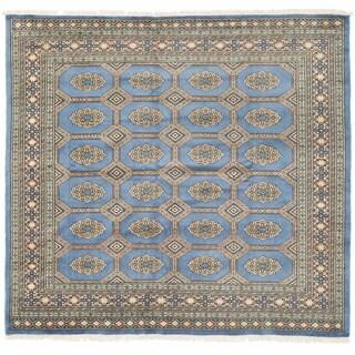 Herat Oriental Pakistani Hand-knotted Bokhara Wool Rug (6'3 x 6'9)