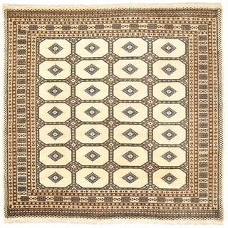 Herat Oriental Pakistani Hand-knotted Bokhara Wool Rug (6' x 6'6)
