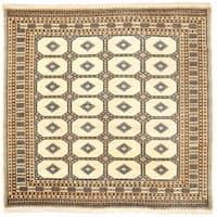Herat Oriental Pakistani Hand-knotted Bokhara Wool Rug (6' x 6'6) - 6' x 6'6