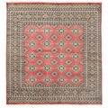 Herat Oriental Pakistani Hand-knotted Bokhara Wool Rug (6'7 x 7'1)