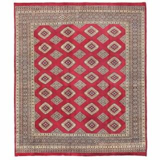 Herat Oriental Pakistani Hand-knotted Bokhara Wool Rug (6'8 x 7'11)
