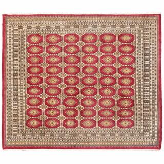 Herat Oriental Pakistani Hand-knotted Bokhara Wool Rug (7'1 x 8'3)