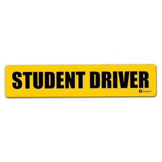 "Zone Tech Reflective ""Student Driver"" Vehicle Bumper Magnet"