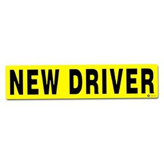 Zone Tech 'New Driver' Vehicle Bumper Sticker  Premium Quality Reflective