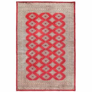 Herat Oriental Pakistani Hand-knotted Bokhara Wool Rug (5'10 x 9')