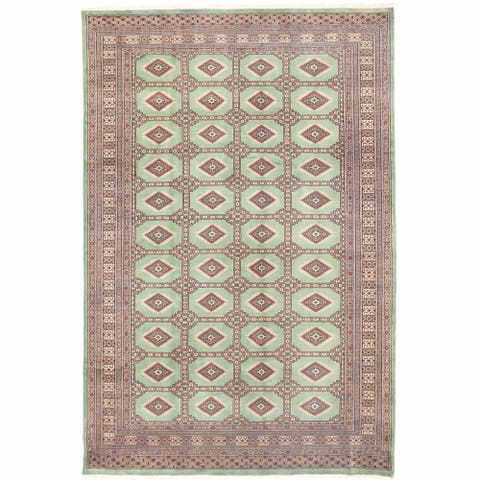 Handmade One-of-a-Kind Bokhara Wool Rug (Pakistan) - 6'7 x 10'1