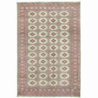 Herat Oriental Pakistani Hand-knotted Bokhara Wool Rug (6'7 x 10'1) - 6'7 x 10'1