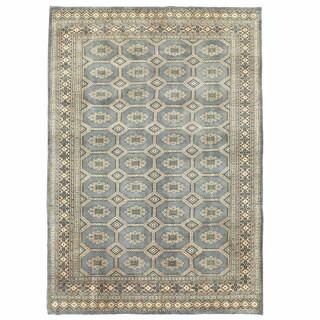 Herat Oriental Pakistani Hand-knotted Bokhara Wool Rug (6'7 x 9'6)