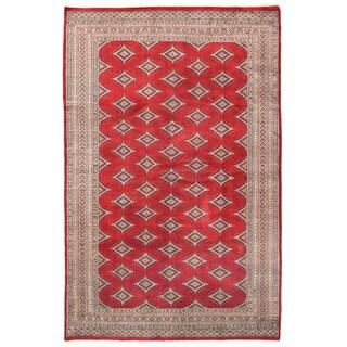 Herat Oriental Pakistani Hand-knotted Bokhara Wool Rug (6'1 x 9'7)