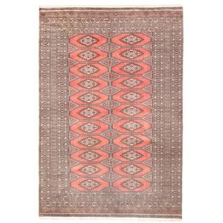 Herat Oriental Pakistani Hand-knotted Bokhara Wool Rug (5'1 x 7'6)