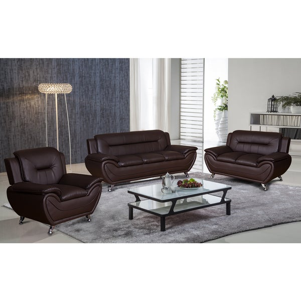 Deliah Relaxing Contemporary Modern Style 3pc Sofa Set 3 Colors   Free  Shipping Today   Overstock.com   20888829