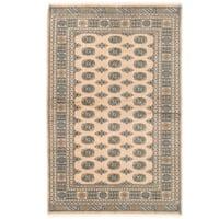 Handmade Herat Oriental Pakistani Bokhara Wool Rug (Pakistan) - 5'1 x 8'2