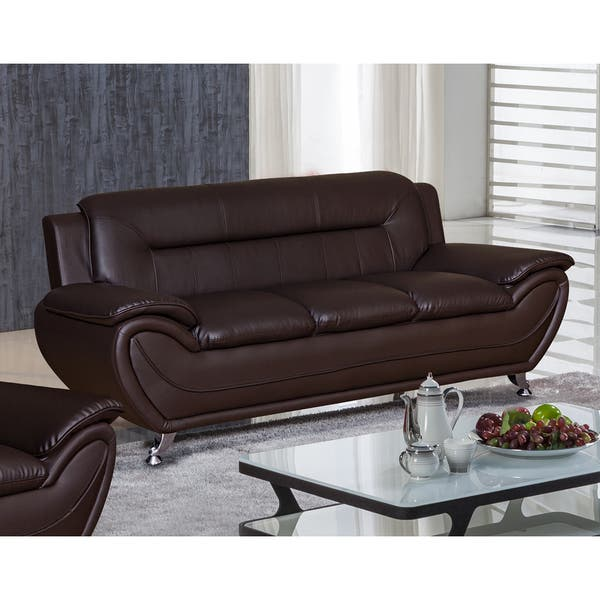 Awesome Deliah Modern Contemporary Faux Leather Sofa 3 Colors Short Links Chair Design For Home Short Linksinfo