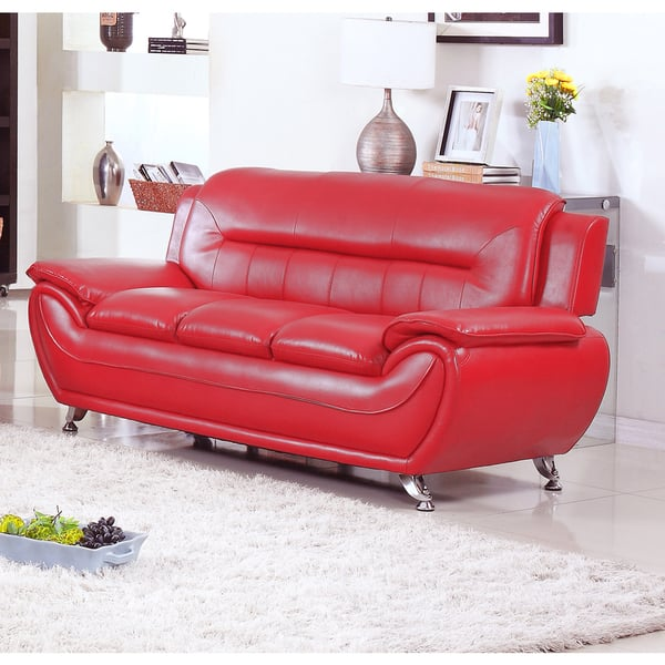 Cool Deliah Modern Contemporary Faux Leather Sofa 3 Colors Ibusinesslaw Wood Chair Design Ideas Ibusinesslaworg