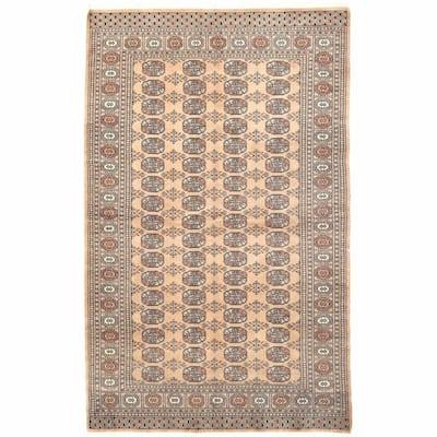 Handmade One-of-a-Kind Bokhara Wool Rug (Pakistan) - 5' x 8'1