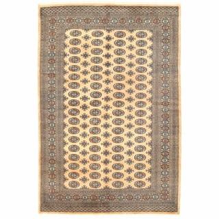 Handmade One-of-a-Kind Herat Oriental Pakistani Bokhara Wool Rug (Pakistan) - 6'1 x 8'11