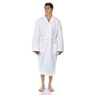 Men's Turkish Fleece Soft Plush Kimono-style Bathrobe (More options available)