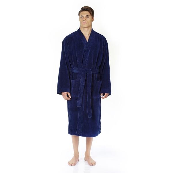 d1b10667a3 Shop Men s Turkish Fleece Soft Plush Kimono-style Bathrobe - Free ...