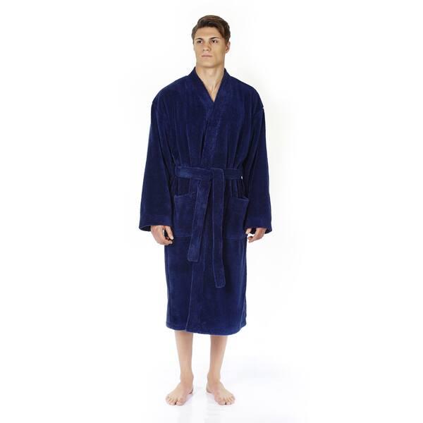 best site classic styles popular brand Shop Men's Turkish Fleece Soft Plush Kimono-style Bathrobe ...