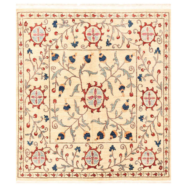 Herat Oriental Afghan Hand-knotted Vegetable Dye Suzani