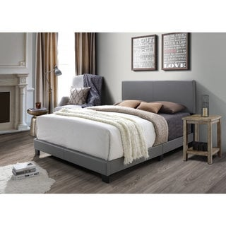 DG Casa Kelly Grey Faux Leather Bed