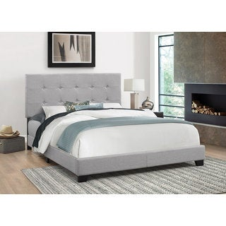 dg casa bradford grey wood tufted queen sized bed