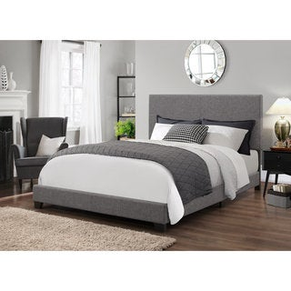 DG Casa Ashton Grey Fabric Queen Bed Glacier