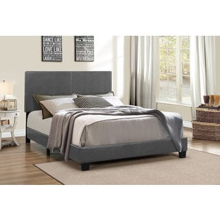 DG Casa Addison Grey Faux Leather Queen Bed