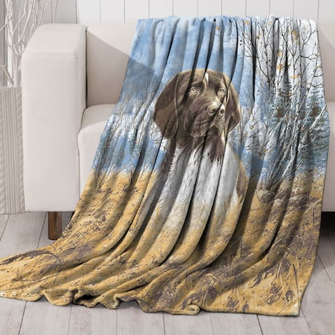 Lauren Taylor - Dog Wildlife Printed Faux Fur Mink Throw