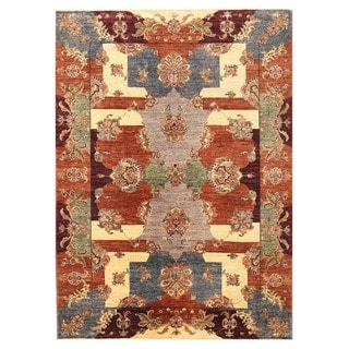 Herat Oriental Afghan Hand-knotted Vegetable Dye Suzani Wool Rug (5'8 x 7'10)