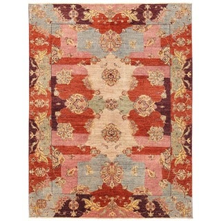 Herat Oriental Afghan Hand-knotted Vegetable Dye Suzani Wool Rug (5'7 x 7'5)