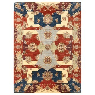 Herat Oriental Afghan Hand-knotted Vegetable Dye Suzani Wool Rug (5'7 x 7'7)