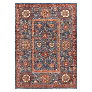 Herat Oriental Afghan Hand-knotted Vegetable Dye Suzani Wool Rug (5'8 x 8')