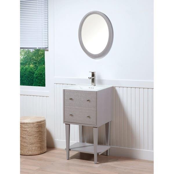 Fawn Grey 19 Inch Bathroom Vanity Set