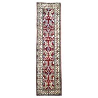 Fine Rug Collection Hand-knotted Pakistan Kazak Wool Oriental Runner (2'6 x 9'4)
