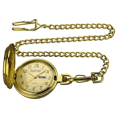 August Steiner Men's JFK Gold-Tone Pocket Watch