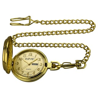 August Steiner Men's JFK Gold-Tone Pocket Watch (Option: Gold)