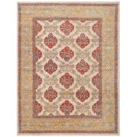 Herat Oriental Afghan Hand-knotted Vegetable Dye William Morris Wool Rug (9'4 x 12'2)