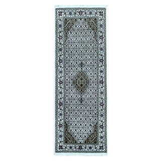 Fine Rug Collection Hand-knotted Mahi Tabriz With Silk Flowers Beige Oriental Runner (2'5 x 6'7)