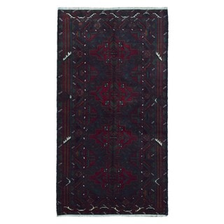 Fine Rug Collection Hand-knotted Persian Baluch Red Wool Oriental Rug (3'8 x 6'7)