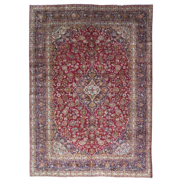 Shop Ecarpetgallery Hand Knotted Persian Kashan Red Wool: Shop FineRugCollection Hand-knotted Semi-antique Persian